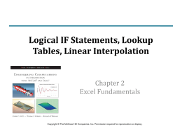 Chapter 2 Part 2: Excel Fundamentals: IF Statements