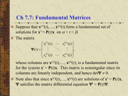 Fundamental Matrices