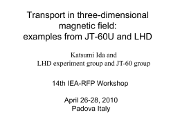 Transport in three-dimensional magnetic field
