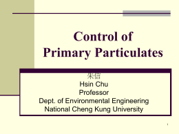 Control of Primary Patriculates