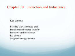 Ch 30 Induction and Inductance