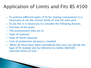 BS 4500 limits and Fits
