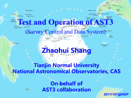 Test and Operation of AST