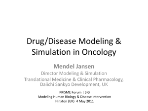 Disease Modeling in Oncology
