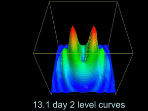 13.1 day 2 level curves