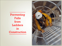 Preventing Falls from Ladders in Construction PowerPoint