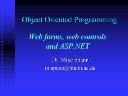 Web Forms and ASP.NET
