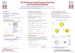 The Ginzburg Landau equations