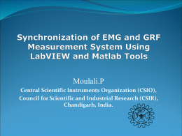 Synchronization of EMG and GRF Measurement System Using