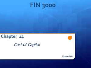 FIN 3000 Chapter 14 Cost of Capital
