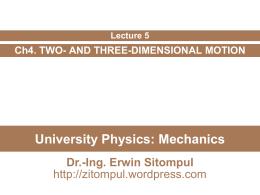 University Physics - Erwin Sitompul
