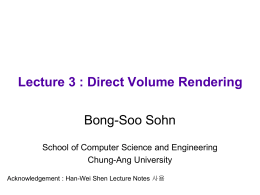 Lecture 3: Direct Volume Rendering
