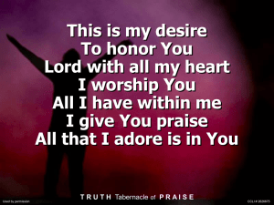 I Give You My Heart - Truth Tabernacle of Praise