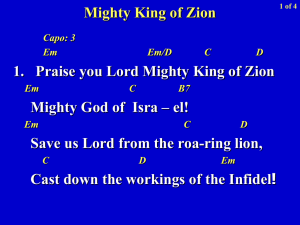 Mighty King of Zion - CFC-FFL