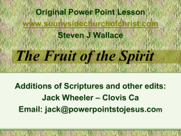 Self Control - Power Points to Jesus