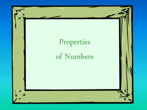 Properties of Real Numbers ppt