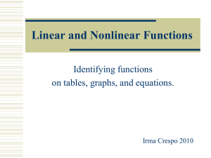 Linear and Nonlinear Functions