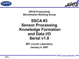HPCS-SSCA3-20060622