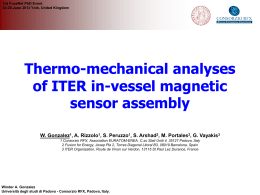 Thermo-mechanical analyses of ITER in-vessel magnetic