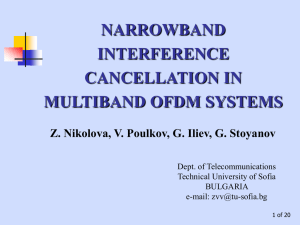narrowband interference cancellation in multiband ofdm