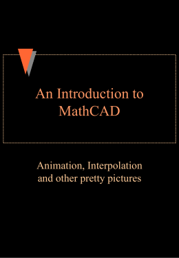 An Introduction to MathCAD