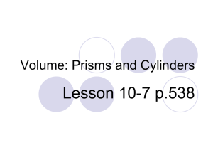 Volume: Prisms and Cylinders