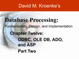 Kroenke-DBP-e10-PPT-Chapter12