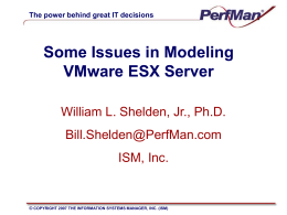 Some Issues in Modeling VMware ESX Server