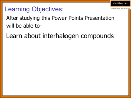 interhalogens compounds