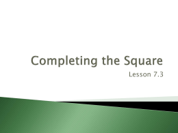 Lesson 7.3 - James Rahn