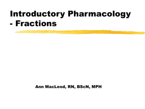 Introductory Pharmacology