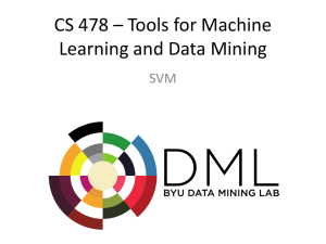 SVM - BYU Data Mining Lab