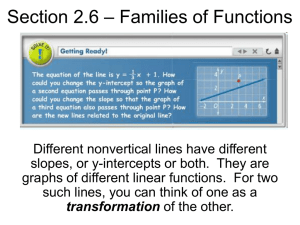 Section 2.6 – Families of Functions