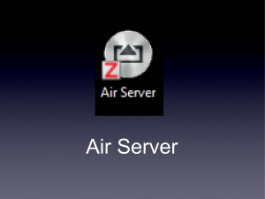 Use Air Server with your iPad