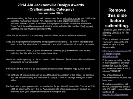 2014 AIA Jacksonville Design Awards (Craftsmanship - Site