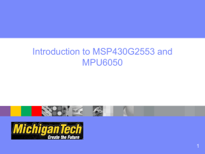 Introduction to MSP430