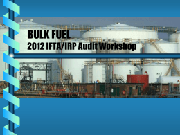 Adv Audit Techniques – Bulk Fuel