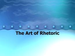 The Art of Rhetoric