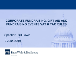 Tax & VAT update - Institute of Fundraising