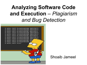 Plagiarism and Bug Detection