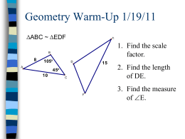 Section 8.4 Similar Triangles