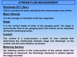 STREAM FLOW MEASUREMENT