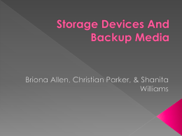 Categorize Storage Devices And Backup Media