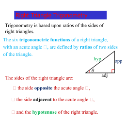 Trigonometry of Right Triangles