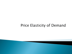 Price Elasticity of Demand (PED)