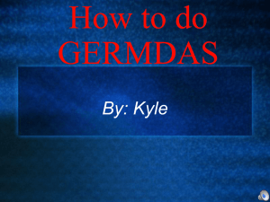 How to do GERMDAS