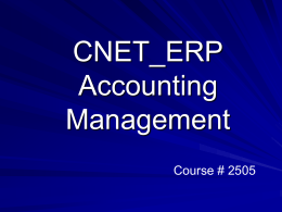 CNET_ERP Accounting