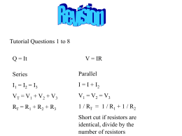 electricity revision and electrostatics