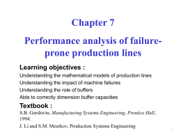 Long failure-prone production lines