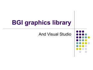 BGI graphics library